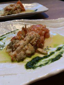 【円居 -MADOy- 品川】のずわい蟹を使った鉄板焼き